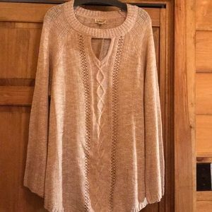 2X soft Rose color sweater NWT